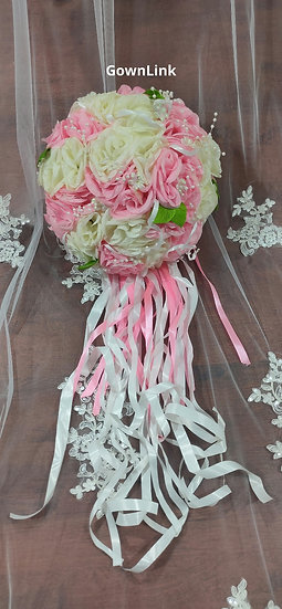 Christian Bridesmaid Small Bouquet White Flowers India Bridal Bouquet R