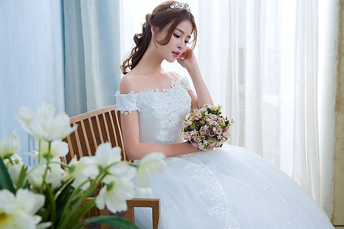 Christian Wedding Special Occasion Party Gown Dress TD05