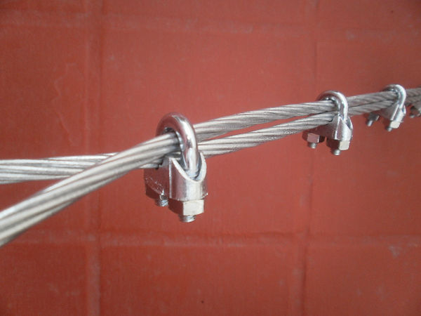 Grampas Prensacable Cable Acero