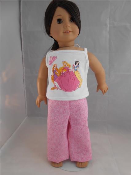 Pink Princess Pajamas