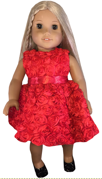 Christmas Dress With Rosettes