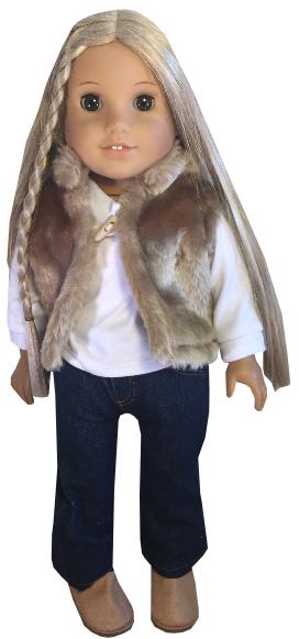 Tan Fur Vest Outfit