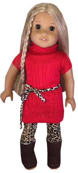 Red Sweater And Cheetah Leggings