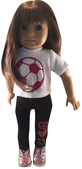 Glitter Soccer Outfit