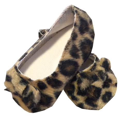 Faux Cheetah Ballet Slippers