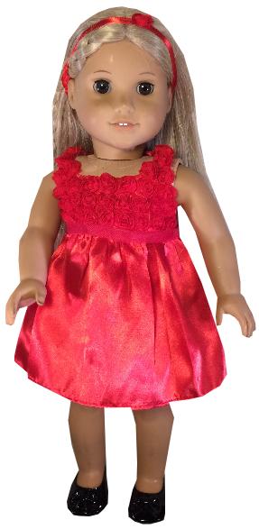 Red Rosebud Dress