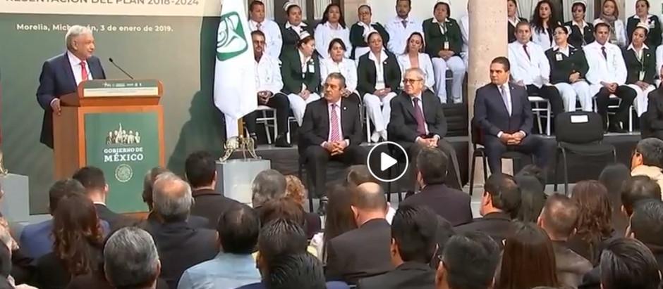 Se lleva a cabo en el Estado de Michoacán la Presentación del Plan del IMSS para el periodo 2018-202