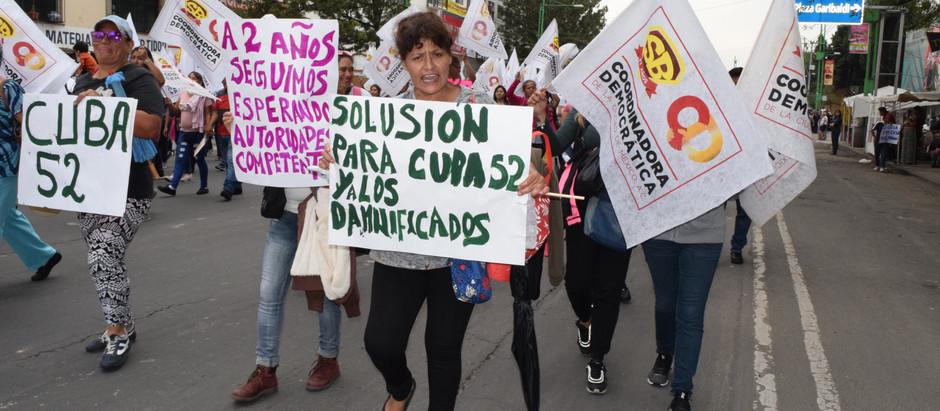 Organizaciones Sociales marchan por la reconstrucción del 19 de septiembre, en la CDMX.