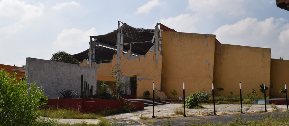 Deportivo abandonado en la Alcaldía Coyoacán.