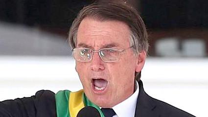 Jair Bolsonaro, toma protesta como presidente de Brasil.