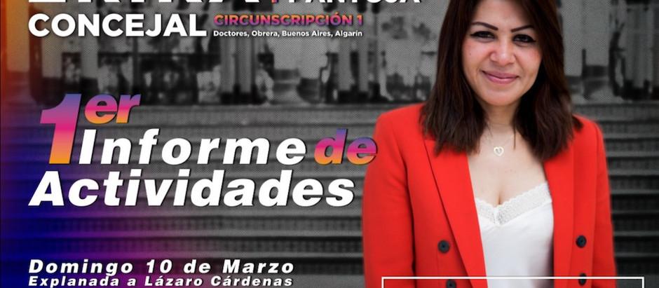 Primer Informe de Actividades de la Concejal, Erika Barrientos Pantoja