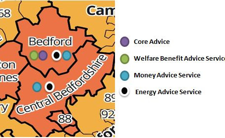 Where does Citizens Advice Bedford deliver it's services?