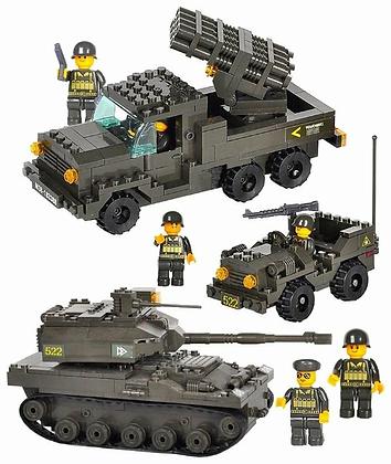Կոնստրուկտոր՝ բանակ ռազմական մեքենաներ 602դետալ