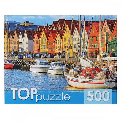 Puzzle-500 Զվարթ տներ ջրի կողքին