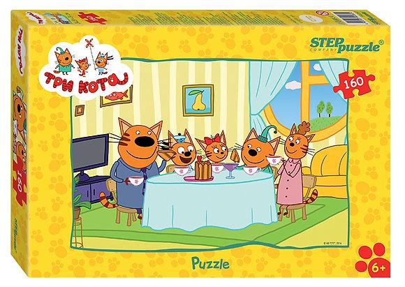 Step Puzzle-160 Երեք կատու
