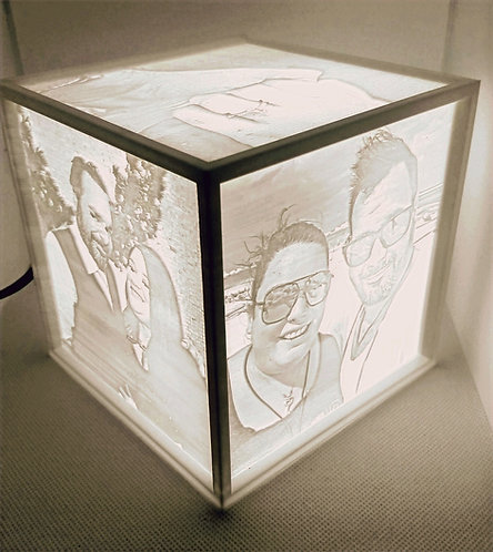 Personalized Lithophane Lightbox Color Changing