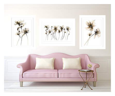 SCRIBBLE 10 PORT 2 TRIPTIC FRAMED GICLEE PRINT