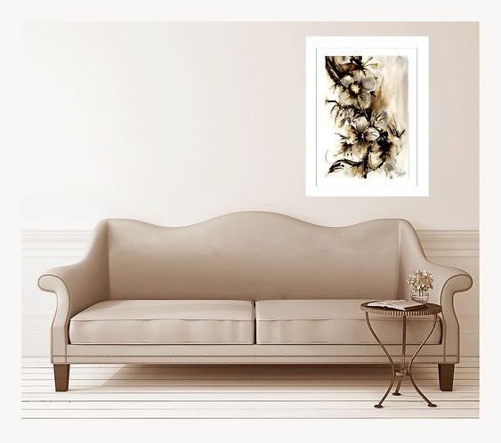 SCRIBBLE PAINTING 1  FRAMED GICLEE PRINT