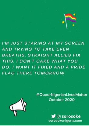 #QUEERNIGERIANLIVESMATTER OCTOBER 2020