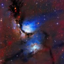 M78 reflection Nebula in LRGBHA