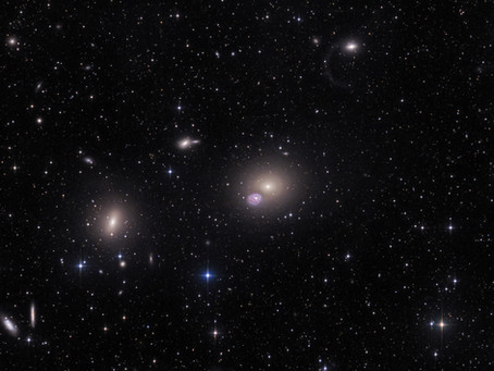 Messier 60,NGC 4660 with Tidal Filament