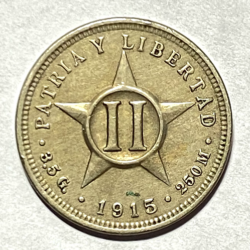CUBA 2CENTAVOS 1915 súper condition