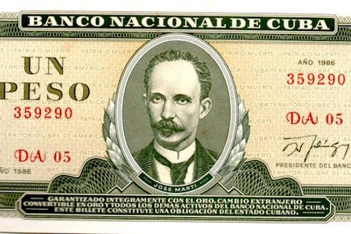 CUBA 1986 J. MARTI 1 PESO.