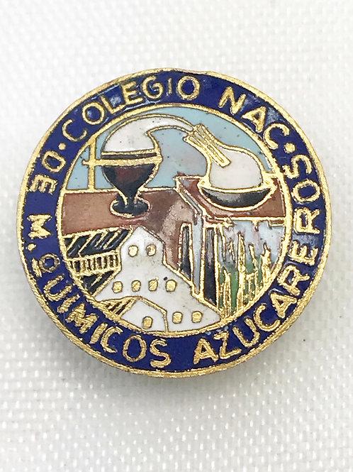 1950s CUBA COLEGIO NACIONAL DE M QUIMICOS AZUCAREROS PIN.