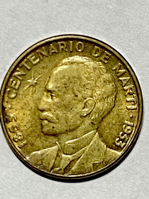 Cuba 1953 centenario 1 centavo
