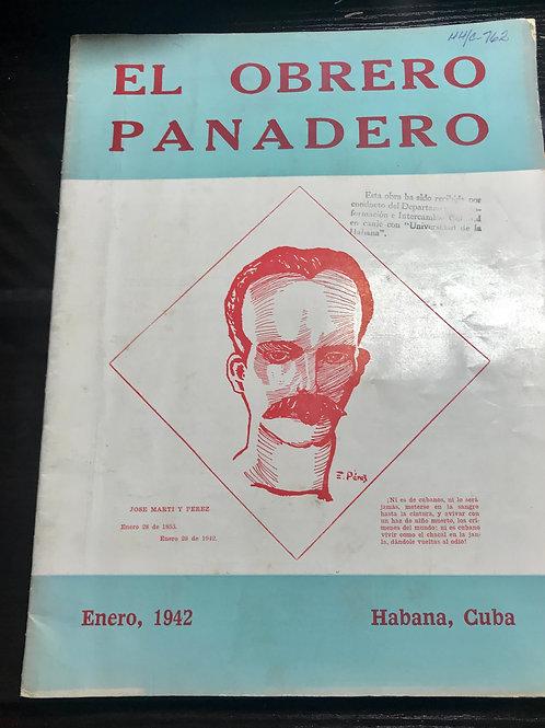 1942 CUBA EL OBRERO PANADERO REVISTA HABANA ENERO 28 .
