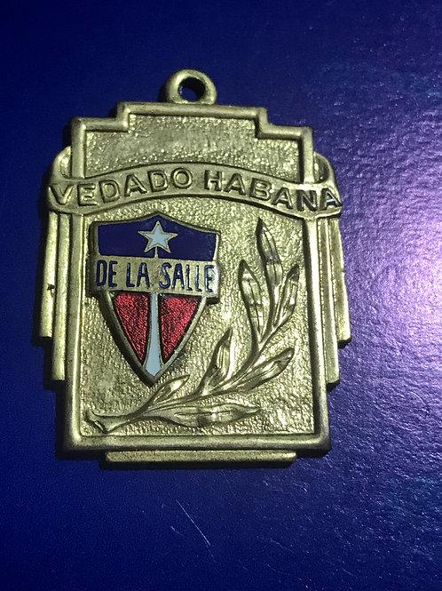 1950s CUBA MEDALLA COLEGIO DE LA SALLE HABANA VEDADO