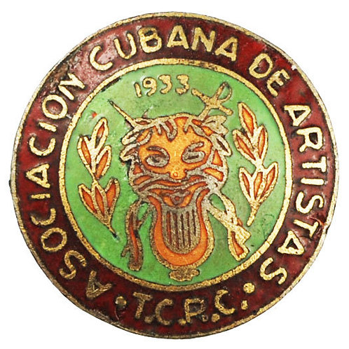 1950s ASOCIACION DE  ARTISTAS DE RADIO Y TELEVICION CUBANA PINs
