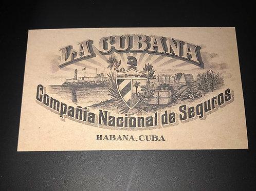 1950s LA CUBANA COMPAÑIA NACIONAL DE SEGUROS HABANA CUBA