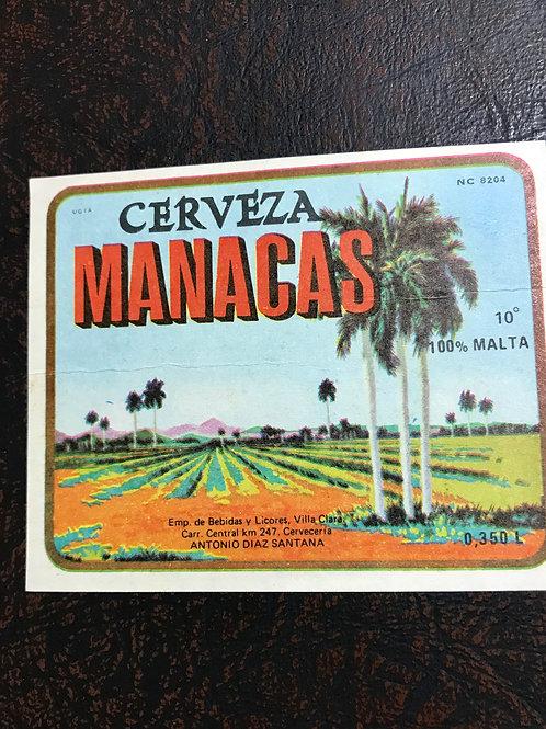 CUBA CERVEZA MANACAS-VILLA CLARA - LABEL