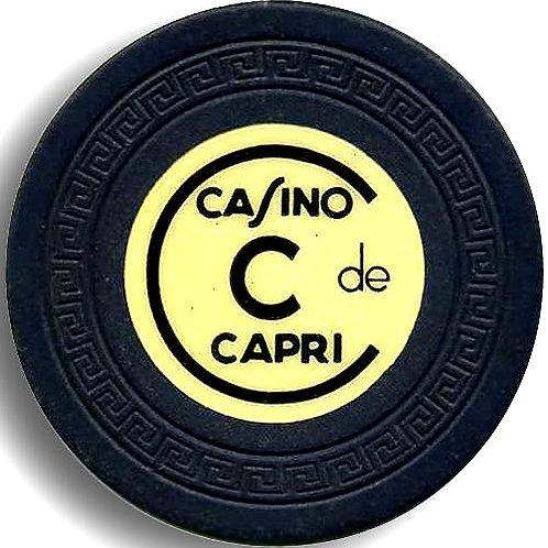 Cuba 1 ficha del casino capri en la habanaCasino Capri - C - Black
