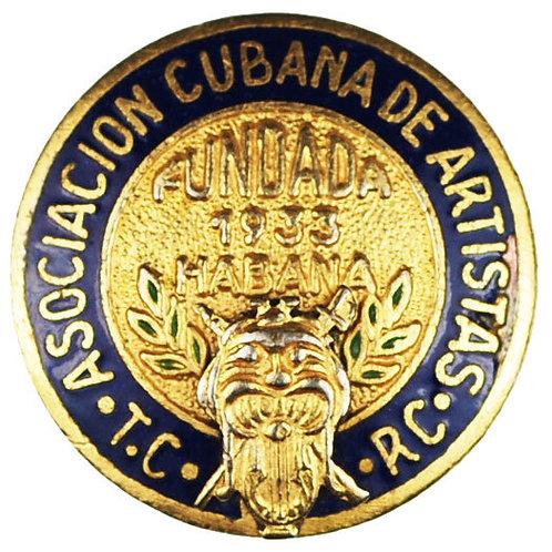 1950S CUBA ASOCIACION CUBANA DE ARTISTAS DE RADIO Y TELEVISION PIN