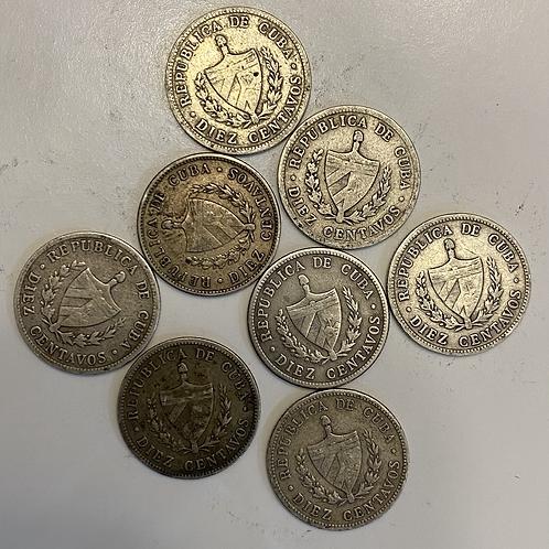 Lote 8 coin cuba 1915 silver