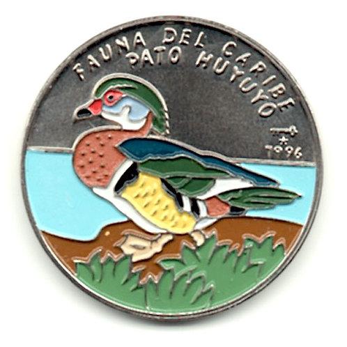 1 PESO 1996 CUBA FAUNA DEL CARIBE PATO HUYUYO UNCIRCULATED