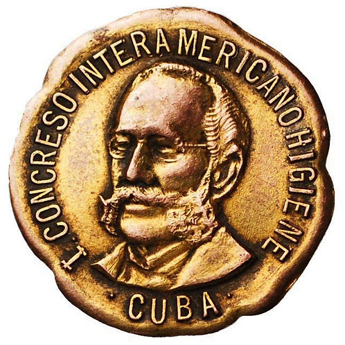1940s Cuba Doctor Carlos J. Finlay lapel pinCongreso Interamericano de Higiene.