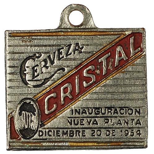 1954 Cuba Cerveza Cristal Cuban Beer Keychain with image of Virgen de la Caridad