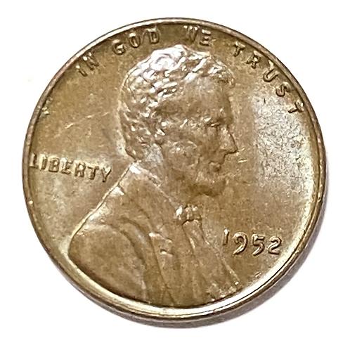US 1 cent 1952 x fine