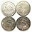 Thumbnail: CUBA LOT 4 COIN 1 PESO 1989 -1990 SIN CIRCULAR