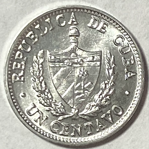 CUBA 1 centavo 1971 uncirculated