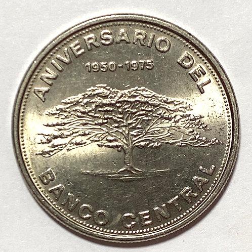1975 COSTA RICA 10 CÓLONES DC-CR SIN CIRCULAR conmemorativa 1950-1975