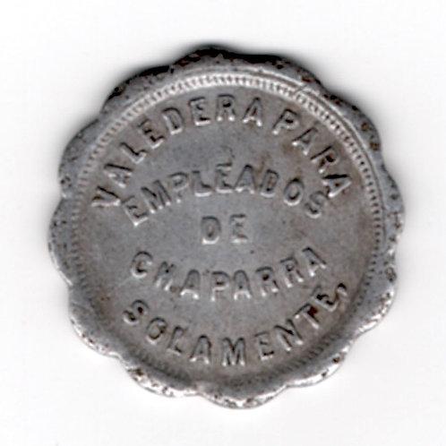 CUBA TOKEN 1930s 5 centavos CHAPARRA