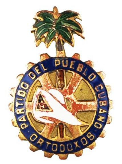 1950s CUBA PARTIDO ORTODOXO CUBANO POLITICAL PIN
