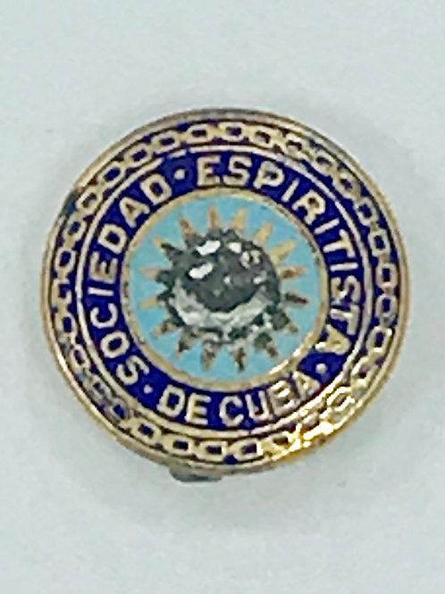 Cuba 1950s SOCIEDAD ESPIRITISTA CUBANA PIN
