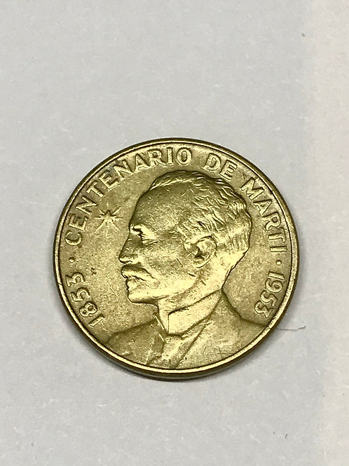 Cuba 1953 centenario de j. Martí patria y libertad see condition on photo.