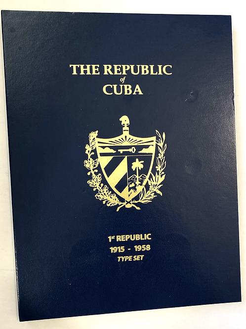 THE REPUBLIC CUBA ALBUM MONEDAS CUBANAS ANTES DE CASTRO SIN LAS MONEDAS
