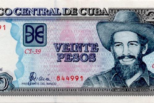 CUBA 20 PESOS 2006 UNC CAMILO CIENFUEGOS